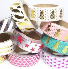 Masking tape métallisés