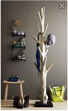 Haus ideen – Branch coat rack – 15 Practical DIY Woodworking Ideas for Your Home – Ideen Dekorieren Tree Coat Rack, Coat Racks, Coat Tree, Coat Hanger, Diy Coat Rack, Diy Coat Hooks, Coat Storage, Rustic Coat Rack, Wooden Coat Rack