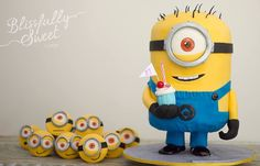Minion cake - made by Blissfully Sweet cakes.