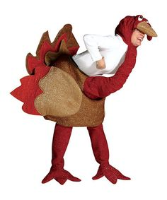 aa8d6f45a9 Bahahahaha - Take a look at this Brown Glitter Turkey Costume - Adult by  Rasta Imposta