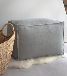 20 X 14 Rectangular Burlap Ottoman Pouf By Lovintagefinds On Etsy