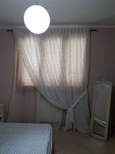 tende arricciate per camera da letto