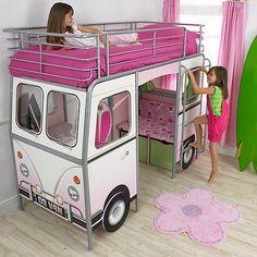 Buy De Van Surfer Cabin Bed, Pink Online at johnlewis.com