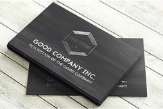 Black Wooden Business Card  ____________________ Graphicview.net Facebook.com/Graphicviewlhr
