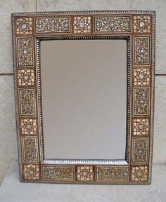 Moroccan Home Decor Mother of Pearl Inlay Rectangular Wall Mirror Frame   Home & Garden, Home Décor, Mirrors   eBay!