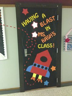 Smaller version on bulletin board? Having a blast in speech class.