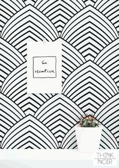 20 % OFF Art Deco Peel and Stick Wallpaper/ Removable by ThinkNoir