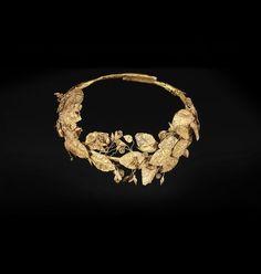 HELLENISTIC GOLD WREATH. Origin: Mediterranean. Circa: 300 BC to 100 BC.