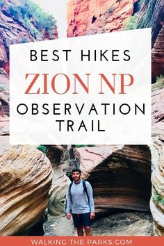 For stunning views check out one of the Best Hikes in Zion National Park, Observation Trail. Many visitors miss this hike because they are so focused on Angel's Landing. Avoid the crowds there and check out this very special Zion Hike. National Park Tours, Sequoia National Park, Us National Parks, Zion Hikes, Travel Tips, Travel Destinations, Breathe In The Air, Utah Vacation, Best Hikes