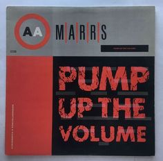 FREE SHIPPING RECORDS: MARRS VINYL 1987 ISLAND PUMP UP THE VOLUME LP BWAY 452 EP
