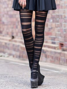 Barcode Hosiery (WW $40AUD / US $35USD) by Black Milk Clothing