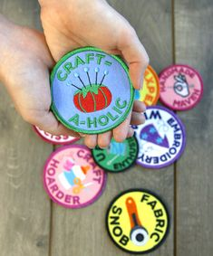 Urban Threads: Crafty Merit Badge collection. Machine embroider your own merit badges and earn your crafty bragging rights.