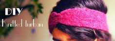 DIY knitted turban, quick and easy diy