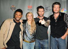 Usher, Shakira, Adam Levine and Blake Shelton ( but mostly usher)