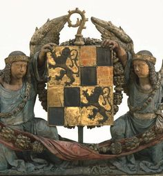 Armorial Shield Supported by Angels, Beauvais (France), late 15th-early 16th century