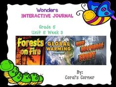 "Complete Set Includes: Essential Question/Build Background Graphic Organizer Mini Anchor Charts for Text Structure: Compare and Contrast, Ask and Answer Questions, Context Clues, Genre (Expository) Venn Diagram Graphic Organizer for ""Forests on Fire"" 5 Venn Diagram Graphic Organizer for ""Global Warming"" Vocabulary Worksheet Responding to Reading Ask and Answer Questions"