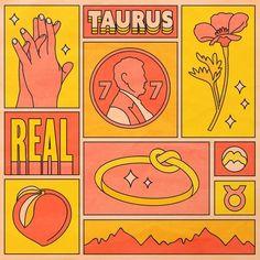 Taurus Acrylic Box by Berlin Michelle - 4 X 4 X 3 Taurus Art, Zodiac Art, Graphic Design Posters, Oeuvre D'art, Framed Art Prints, Art Inspo, Pop Art, Illustration Art, Graphic Design Illustration