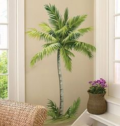 Innovative Style of Decor with Palm Tree Wall Decals: Palm Tree Wallies ~ virtualhomedesign.net Wall Decals Inspiration