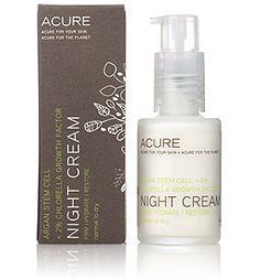 Acure Organics Argan Stem Cell + 2% Chlorella Growth Factor Night Cream | Spirit Beauty Lounge