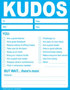 Kudos Note Pad Set (set of 10 BLUE)-Trainers Warehouse
