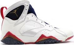 d576e47f4382 Jordan Shoes Air Jordan 7 Original Olympic White Midnight Navy True Red  Air  Jordan 7 - The White and Midnight Navy Air Jordan IV Retro made its debut  in ...