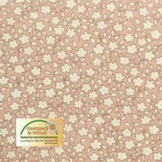 851923 bomull gl. rosa m små hvite blomster Kajas rom