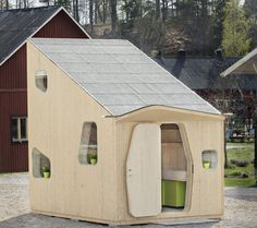 Tengbom Architects designed this tiny, eco-friendly structure as a compact student apartment.
