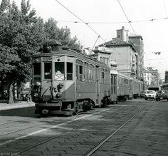 Milano, Piazzale Carlo Machiachini, 1978 #milano #fotografia #storia #tram
