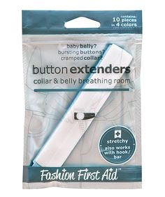 Loving this Solutions That Stick White, Black & Blue Button Extender - Set of Two on #zulily! #zulilyfinds
