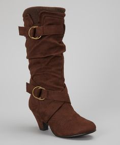Cute Slouchy Brown Boots