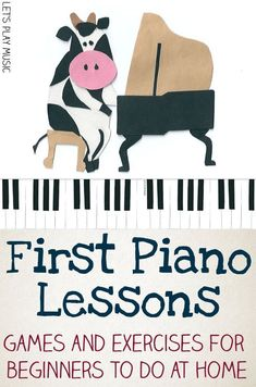 First Piano Lessons for Kids - Let's Play Music - Games and Exercises that can be done on a keyboard at home to help get started with learning the piano #LearnPianoOnline #violinforkids