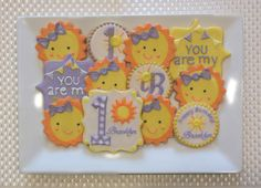 You are my sunshine sugar cookies Sweet17Cookies.Etsy.com
