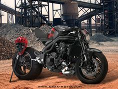 another triumph triple. Moto Racer, Moto Bike, Motorcycle Bike, Motorcycle Leather, Ducati, Yamaha R6, Retro Bikes, Cafe Bike, Cafe Racer Bikes