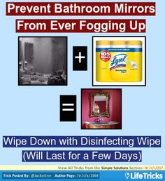 Prevent Mirrors from Fogging Up