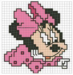 Minnie A Punto Croce Per Bavaglini