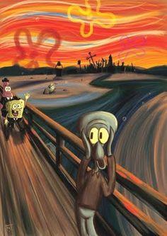 Releitura de O grito, Edward Munch (Bob Esponja) Ha! Ha!