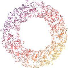 Flowers circle illustration on Behance