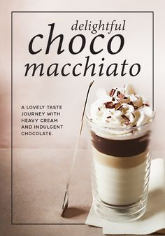 Make your next Nespresso moment a taste journey with this delightful Choco Macchiato recipe. The roasted, woody notes of Fortissio Lungo Grand Cru invoke the feeling of a beautiful fall day. Finish off this rich espresso beverage with sweet heavy cream and chocolate shavings for a drink that's almost impossible to resist.