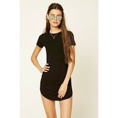 a27fdcb1dd Forever21 Curved Hem T-Shirt Dress (14 AUD) ❤ liked on Polyvore featuring  dresses