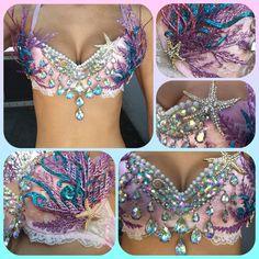 Mermaid Bra by DevonWinstonDesigns on Etsy                                                                                                                                                                                 More