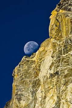 Setting moon, Yosemite National Park by Massimo Squillace