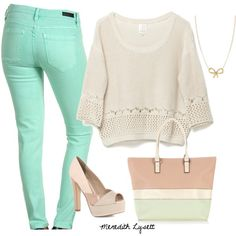 """Mint"" by meredithlysett on Polyvore"