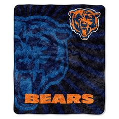Chicago Bears NFL Sherpa Throw (Strobe Series) (50in x 60in)
