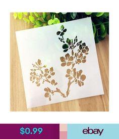 $0.99 - Cherry Blossoms Pattern Layering Stencil Template Diy Scrapbooking Home Decor  #ebay #Home & Garden