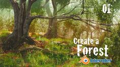 This Blender Tutorial series will teach you the entire process of creating a beautiful 3D forest scene. In part one we create a terrain and custom trees usin...