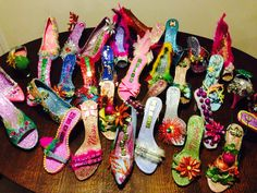 Decorated shoes for Krewe of Muses