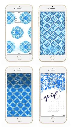 Phone background and wallpaper downloads from the May Designs Blue Porcelain collection!