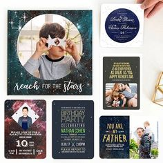🎉May the Fourth Be with You! We're showcasing our favorite galaxy-inspired designs available on Mixbook.com. Perfect to keep in mind for Father's Day or upcoming birthday parties or weddings. Explore these via the link in our bio! 🚀    #Regram via @mixbook