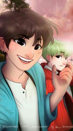 from the story sugar tsundere. by xxstrawberrymilk (yoongi bottom. Kpop Drawings, Cartoon Drawings, Tsundere, Foto Bts, Bts Taehyung, Bts Jungkook, K Pop, Shop Bts, Bts Anime