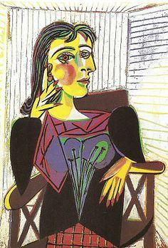 Pablo Picasso, Portret van Dora Maar, 1937, olieverf op linnen, 92 x 65 cm, Musée Picasso, Parijs